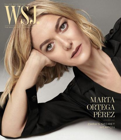 Marta Ortega, en la portada de 'The Wall Street Journal Magazine'.
