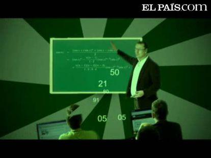 """<b>Marta Macho Stadler</b>, profesora titular de Geometría en la <a href=""""http://www.ehu.es/"""" target=""""blank"""">Universidad del País Vasco</a>, presenta el 35º desafío con el que celebramos el <a href=""""http://www.rsme.es/centenario/"""" target=""""blank"""">centenario de la Real Sociedad Matemática Española</a>. Manda tu solución antes de las 00.00 horas del martes 15 de noviembre (medianoche del lunes hora peninsular española) al correo <a href=""""mailto:problemamatematicas@gmail.com"""">problemamatematicas@gmail.com</a> y gana <a href=""""http://www.elpais.com/promociones/matematicas/"""">una biblioteca matemática</a> como la que cada domingo distribuye EL PAÍS en el quiosco.  A continuación, para aclarar las dudas y <b>en atención a nuestros lectores sordos</b>, añadimos el enunciado del problema por escrito. Tenemos un rectángulo R que está subdividido en cuadrados <a href=""""http://www.elpais.com/fotografia/sociedad/Rectangulo/cuadrados/elpfotsoc/20111112elpepusoc_2/Ies/"""">como muestra la figura</a>. Diréis que en la figura no todo son cuadrados, y es cierto. Lo que ha pasado es que la figura se ha deformado y los cuadrados se ven como rectángulos, pero sabemos que las alineaciones de los cuadrados que forman originalmente R son las mismas que las de los rectángulos de la figura. Sabemos también que el cuadrado rojo mide 3 cm de lado. El desafío consiste en averiguar los lados de cada uno de los cuadrados y las medidas del rectángulo R. La solución debe incluir una lista de 12 números que sea los lados de los 12 cuadrados cuyos lados no sabemos y, además, las medidas del rectángulo. Nos gustaría saber cómo habéis llegado al resultado, pero se considerarán válidas y entrarán en el sorteo todas las respuestas que den los números correctos. <b>NOTA:</b> Algunos lectores nos han hecho notar un ligero defecto de alineación en la imagen mostrada en el vídeo. Esperamos que este defecto no haya confundido excesivamente a quienes han intentado resolver el desafío, pero la hemos sustituido en la """