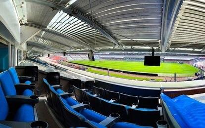 El palco del estadio Azteca que se sorteará en septiembre.
