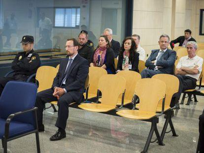 Marcial Dorado durante el juicio