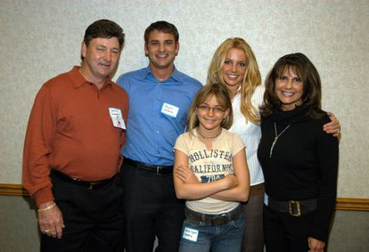 Jamie, Bryan, Jamie Lynn, Britney y Lynne Spears, en Luisiana.