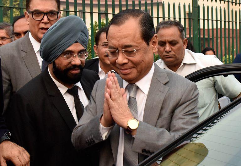 Rajan Gogoi, durante su fiesta de despedida de Tribunal Supremo en Nueva Delhi, India, el pasado noviembre.