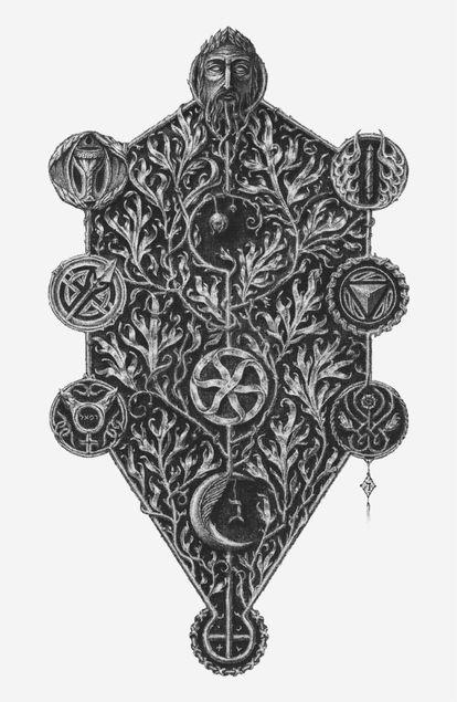 El árbol de la vida en la Cábala.