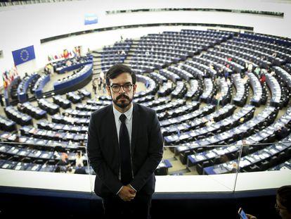 Miguel Pizarro,  en el Parlamento Europeo en Estrasburgo, en julio de 2019.