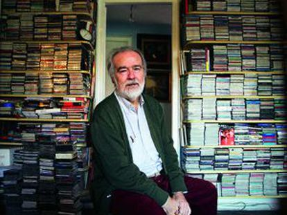 El director y productor Gonzalo García Pelayo, en su casa de Madrid.