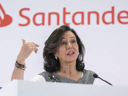 Ana Botín, presidenta del Santander, el pasado enero.