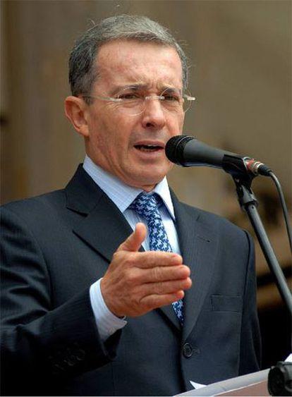 El presidente de Colombia, Álvaro Uribe, el miércoles en Bogotá