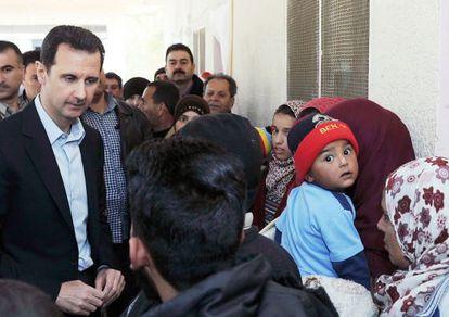 Bachar el Asad reaparece en Adra, el miércoles.