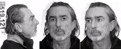 Ficha policial de Francisco Correa Sánchez, presunto líder de la trama de corrupción conocida como Gürtel.