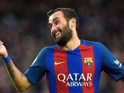 Aleix Vidal, después de marcarle al Athletic.