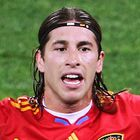 DURBAN, SOUTH AFRICA - JULY 07: Sergio Ramos of Spain gestures during the 2010 FIFA World Cup South Africa Semi Final match between Germany and Spain at Durban Stadium on July 7, 2010 in Durban, South Africa.  (Photo by Steve Haag/Getty Images)