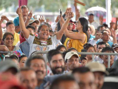 Diálogo de López Obrador con los pueblos maya el pasado mes de noviembre.
