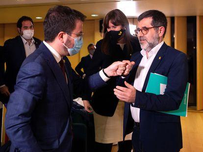 Pere Aragonès y Jordi Sànchez, en una imagen de archivo.