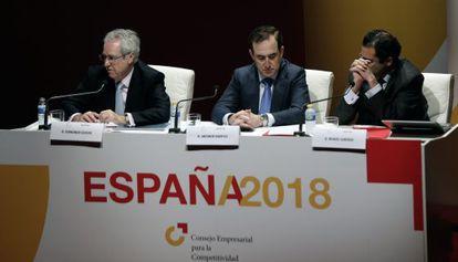 Representantes del Consejo Empresarial para la Competitividad en Valencia.