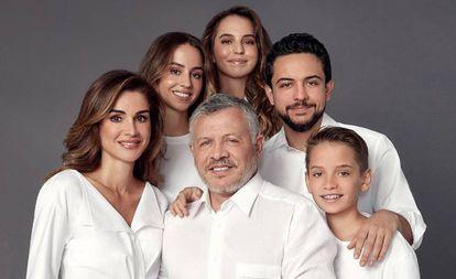 La familia real de Jordania, en una imagen de Instagram.
