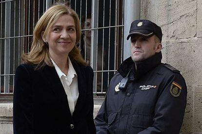 La infanta Cristina llega a los juzgados de Palma para declarar el 8 de febrero.