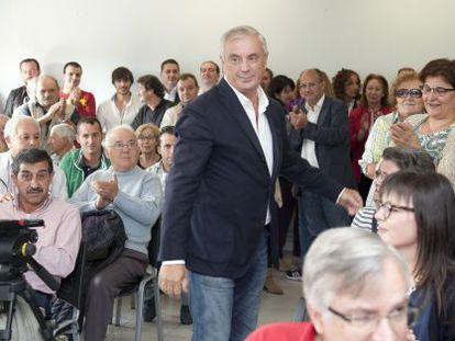Pachi Vázquez, con militantes del PSdeG el pasado 27 de septiembre