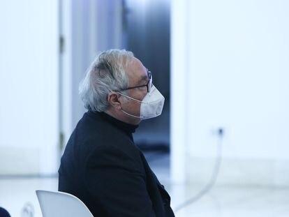 El ministro de Universidades, Manuel Castells, este miércoles en el acto de presentación de planes digitales para pymes, en Madrid.
