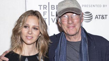 Alejandra Silva y Richard Gere, en un festival de cine en Nueva York en mayo de 2019.