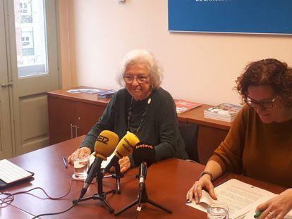La síndica, Maria Assumpció Vilà, y la adjunta Natalia Ferrer.