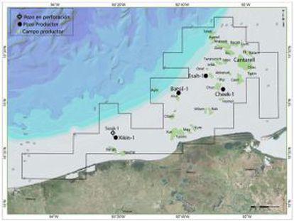 Detalle de los nuevos yacimientos en el Golfo de México.