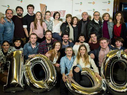 Los actores de 'Amar es para siempre' celebran el capítulo 1.000 de la serie.