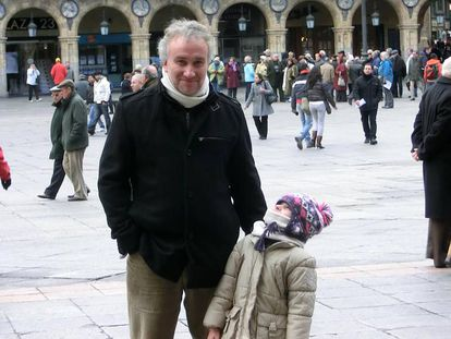Fernando Blanco y su hija, Nadia.