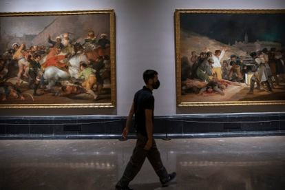 Goya's executions begin the reorganization of the museum's rooms.
