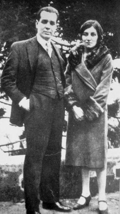 Los hermanos Borges Acevedo, el escritor Jorge Luis y la pintora Leonor Fanny, en una imagen de los años cuarenta.