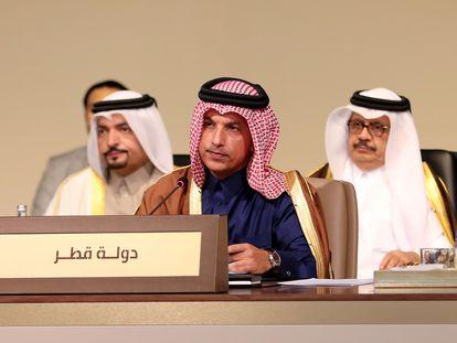 Ali Sharif al Emadi, en una reunión regional en Beirut en 2019.