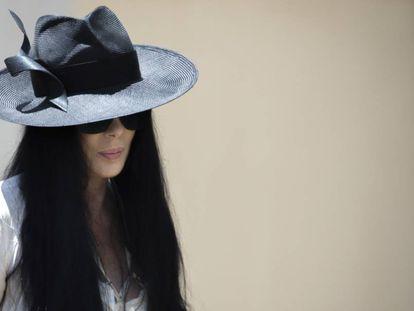 Cher, el pasado 3 de junio en el funeral de su exmarido, Gregg Allman.