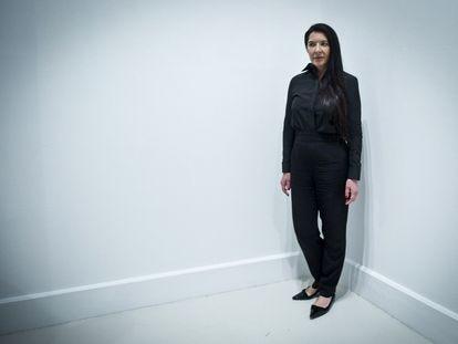 La artista serbia Marina Abramovic, considerada la precursora de la 'performance'  en 2014 en el Centro de Arte Contemporáneo (CAC) de Málaga, donde presentó la muestra 'Holding Emptiness'.