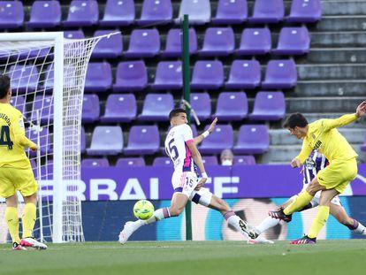 Gerard Moreno marca el primer gol del Villarreal al Valladolid.