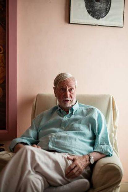 Gianni Vattimo, durante la entrevista en su casa de Turín.