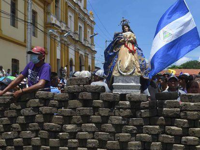 Una barricada de resistencia en Masaya.