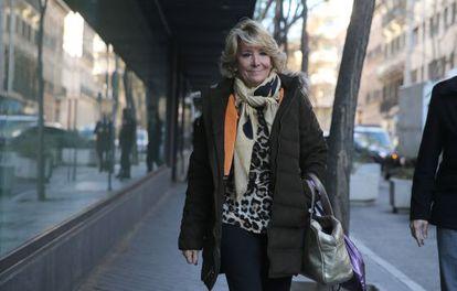 Esperanza Aguirre, en una imagen del 12 de enero de 2015.