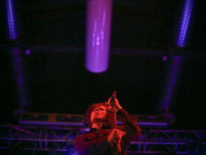Mark Lanegan durante un concierto el pasado mes de diciembre en Madrid.