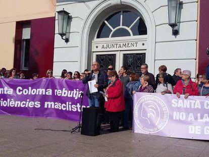 Concentración contra la violencia en Santa Coloma.