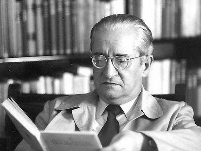 El poeta Carles Riba.