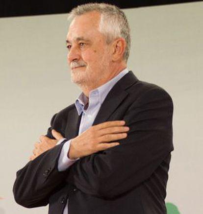 José Antonio Griñán agradece el apoyo de los militantes de su partido el 24 de julio.