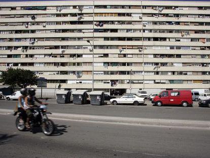 Edificio Venus, en el barrio de La Mina de Sant Adrià de Besòs.