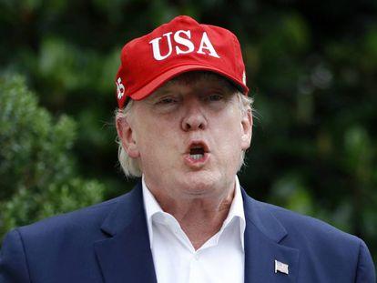 El presidente de EE UU, Donald Trump, en Washington este viernes.