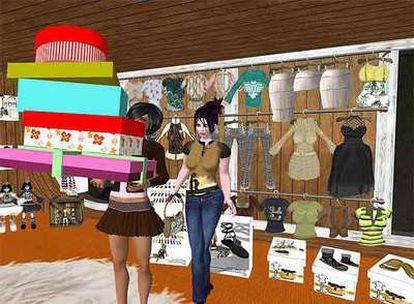 En Second Life los usuarios pueden comprar ropa para sus proyecciones digitales con dinero de verdad.