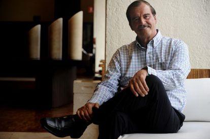 El expresidente de México, Vicente Fox, en el hotel camino Real de la Ciudad de México.