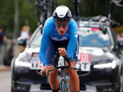 Marc Soler, durante la contrarreloj de Turín del Giro 2021.