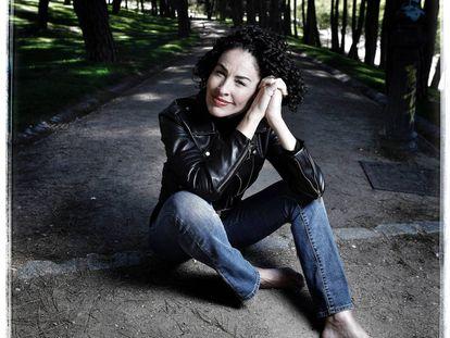 La intérprete catalana Nina en el Parque del Oeste de Madrid.