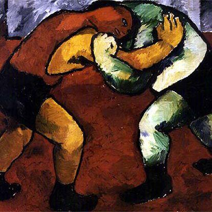 'Luchadoras' (1908-1910), de Natalia Goncharova.