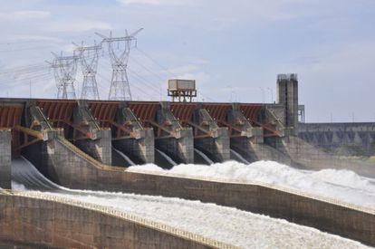 La planta hidroeléctrica de Itaipu, la más grande de Latinoamérica.