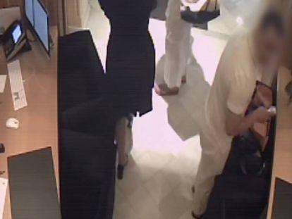Imagen del ladrón que robo a la familia real qatarí