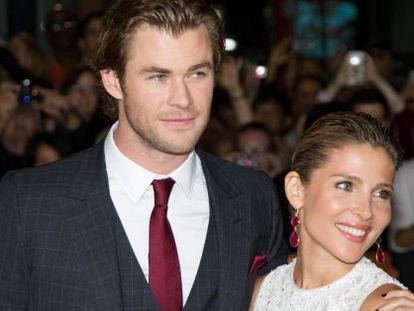 Elsa Pataky y su marido Chris Hemsworth.
